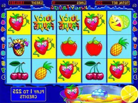 Игровой автомат Juicy Fruits - Клубнички ...