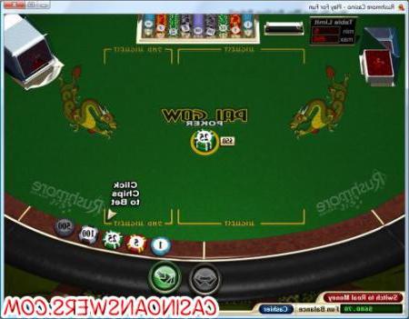 Играть онлайн Покер Pai Gow