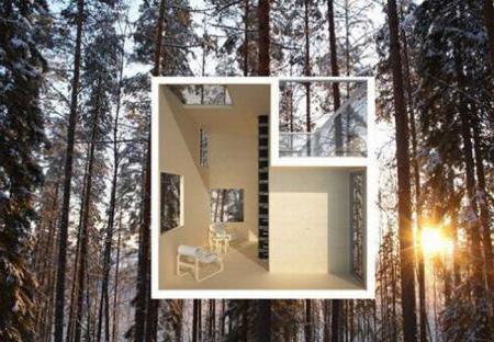 Проект зеркального дома на дереве ...
