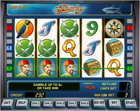 ... автомат Sharky онлайн играть бесплатно и