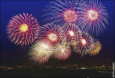 Салют в честь Нового года - Новый год в ...