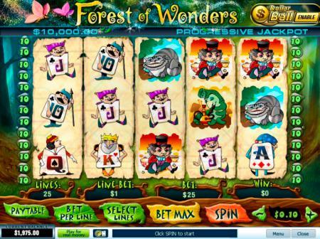 Игровые автоматы / Playtech / Forest of Wonders