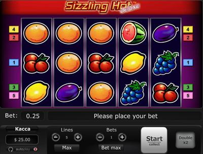 Игровой автомат Sizzling Hot Deluxe онлайн