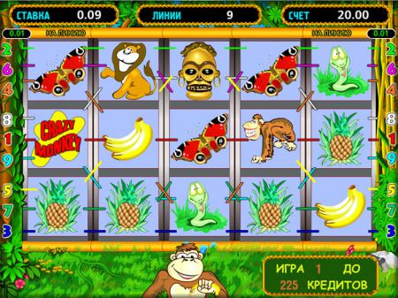 Игровой автомат Обезьянки / Crazy Monkey ...