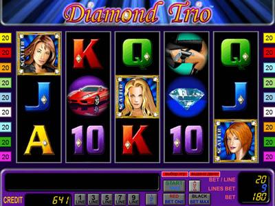 Игровой автомат Diamond Trio (Алмазное Трио)