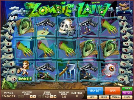 Игровые автоматы Zombieland Megaslot