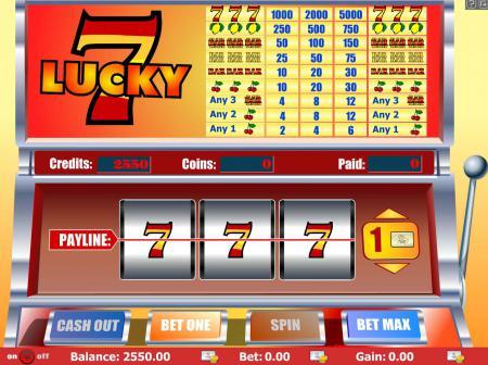 Слот автомат Lucky Seven (Удачливые Семерки