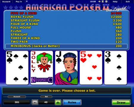 Американский покер 2 играть бесплатно ...