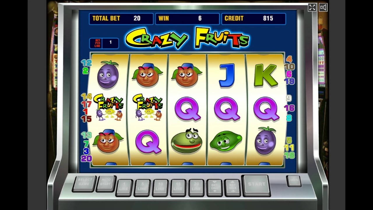 Игровой автомат crazy fruits онлайн
